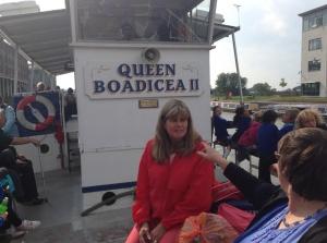 Look it's Queen Boadicea in the flesh